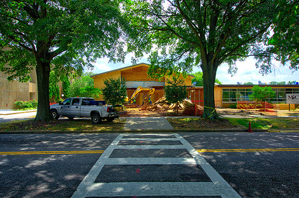 Select demolition for contractor improvements at St. Pius Catholic School renovation.